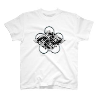 卍五ツ灰 雷時雨 T-Shirt
