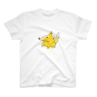 秒で描いたきつね T-shirts