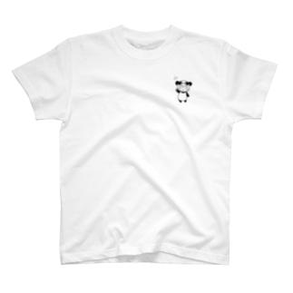 りとぱん 全身 モノクロ T-Shirt