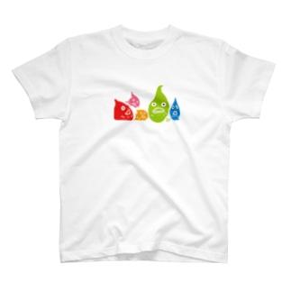 横並びダンゴウオ T-shirts