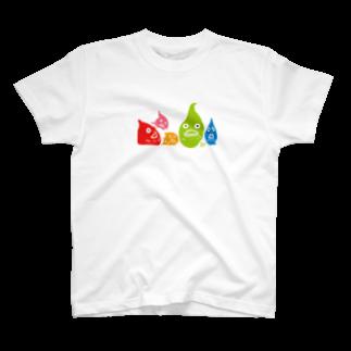 ウチダヒロコ online storeの横並びダンゴウオ T-shirts