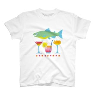 鮭とカクテル T-shirts