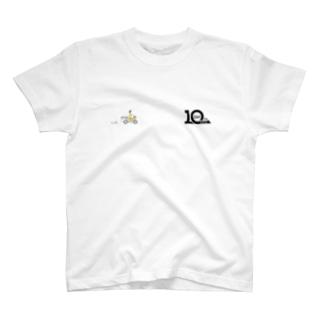 三輪車+10周年記念ロゴ T-shirts
