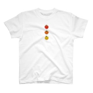 かえるのてぶくろのミニトマト3兄弟 T-Shirt