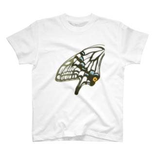 アゲハ・黒 T-shirts
