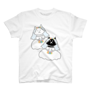 シロクロニャンコニャンコ T-shirts