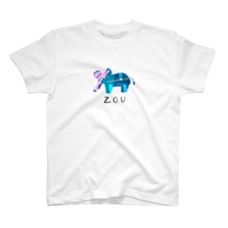アワジトモミのzou T-shirts