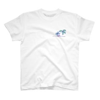手書きのヤシの木 T-shirts