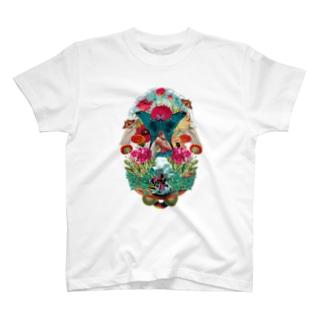 プシュケとラーガ【公式】のコラージュTee(黒ロゴ) T-Shirt