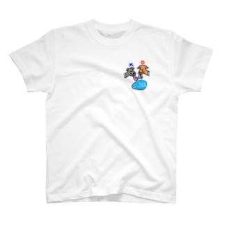 犬の水の飲み方そうじゃなくてこうだよTシャツ T-shirts