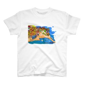 イタリアのチンクエ・テッレゆる絵 T-shirts