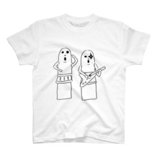 踊る埴輪と伴奏する埴輪 T-Shirt