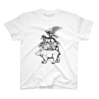 猛獣ブレーメン(simple) T-shirts