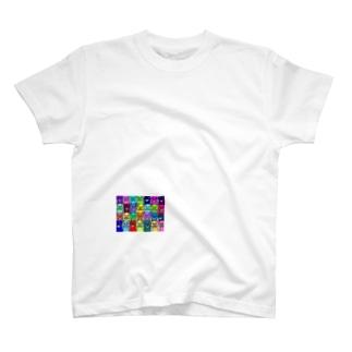 カラフルキモネコ T-shirts