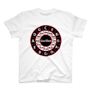 ゴリ論ロゴCiecle of Fifths T-shirts