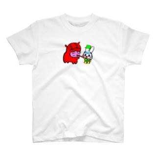 カバWARAくんの歯磨きのお手伝い☆ T-shirts