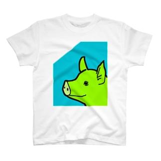 自信たっぷりのぶた T-Shirt