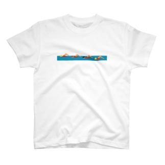 泳いでいるよ T-shirts