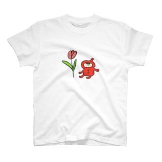 小人とチューリップ T-shirts