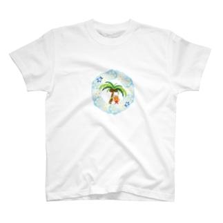 さわやかビーチの花飾りのクレコちゃん T-shirts