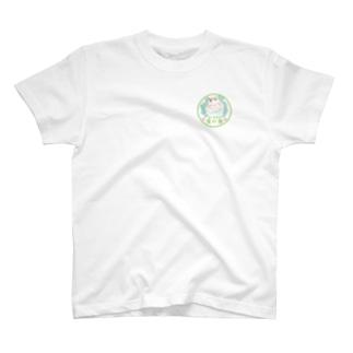 胸にロゴ入りミーちゃん T-shirts