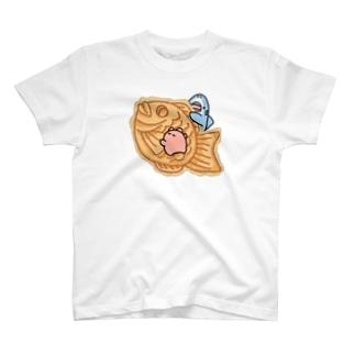 たい焼き食べたいサメとメンダコ T-Shirt