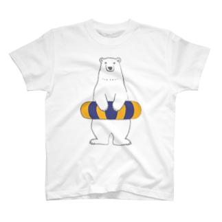 シロクマさん、うきわをつける。 T-shirts