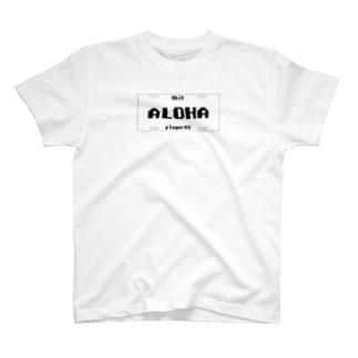 ナンバープレート【ALOHA】 T-shirts
