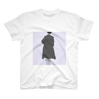 後ろ姿【油彩】 T-shirts