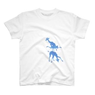 馬跳びキリン T-shirts