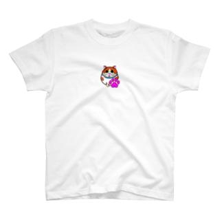 ピンク肉球ゆず兄ちゃん T-shirts