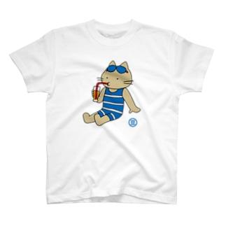 迷い猫とジュース T-shirts