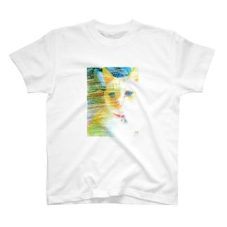 困り猫まつこ「パステルシリーズ1」 T-shirts