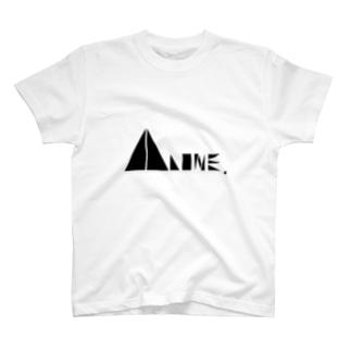 〖黒〗「ALONE LOGO Tシャツ」 T-shirts