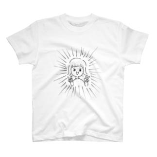 主張が強いタブルピース T-shirts