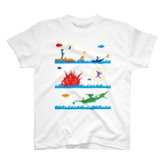 ヤノベケンジ《ラッキードラゴンのおはなし》(デザインNo.1) Tシャツ