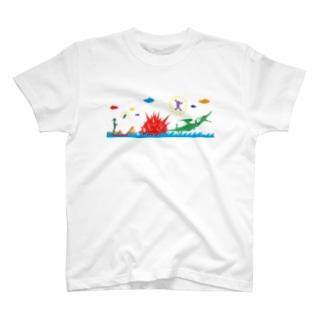 ヤノベケンジ《ラッキードラゴンのおはなし》(デザインNo.2) Tシャツ