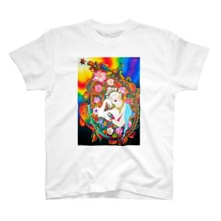 レインボー十一面観音 T-shirts