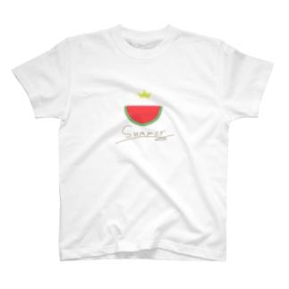 夏だしすいかが食べたい T-shirts