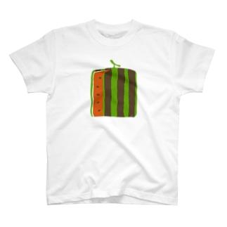 四角いスイカ Tシャツ
