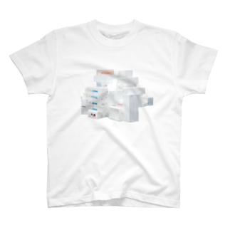 Yusuke SAITOHの発泡スチロールの山 Tシャツ