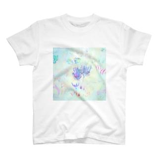 海草(スクエア) T-shirts