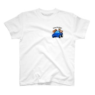 ロードスター馬鹿(マリナーブルー) T-shirts