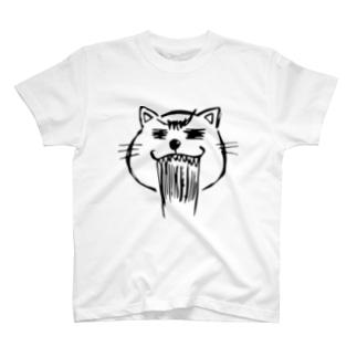 まるまるお顔のネコニャース T-shirts
