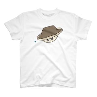 土星ハカセ「土星と地球」 T-shirts