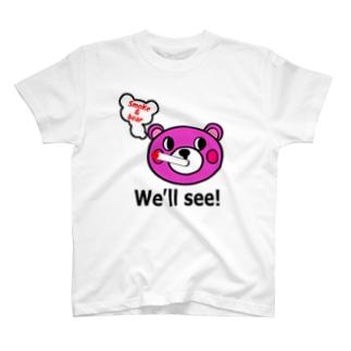 モクモックマ・フェイス  ピンク T-shirts