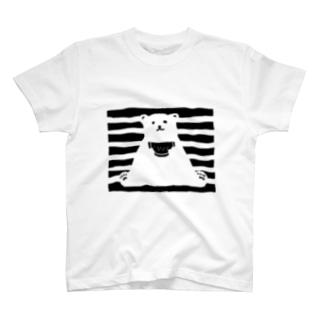 シロクマとスイカ T-shirts