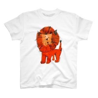 ひとみしり!ライオン T-shirts