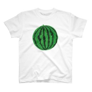 mekadangoのスイカ(緑) T-shirts