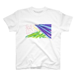 しゅしゅしゅとさささとぽっぽぽぽ T-shirts